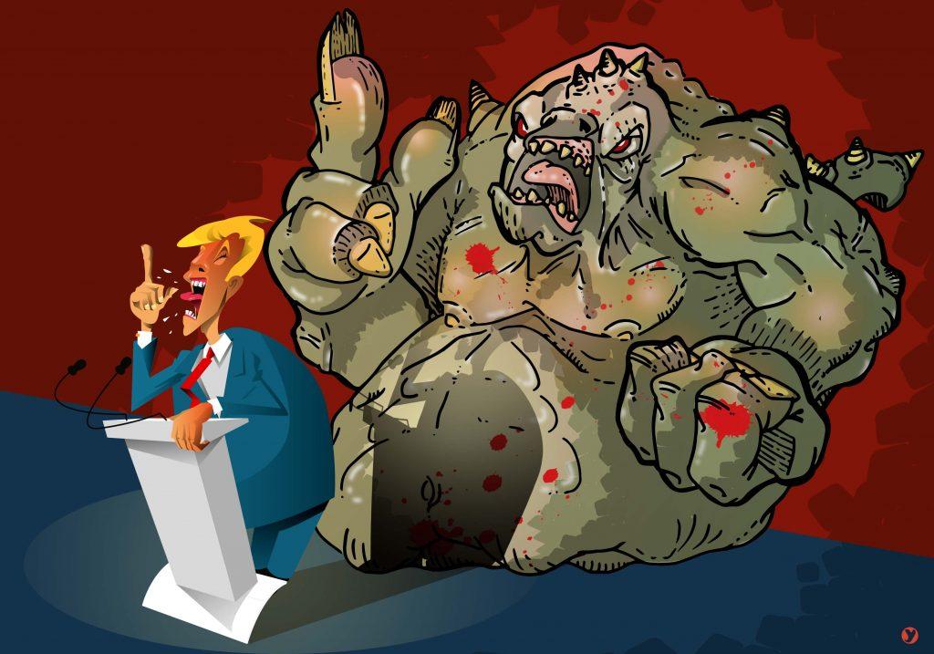 Un monstre violent