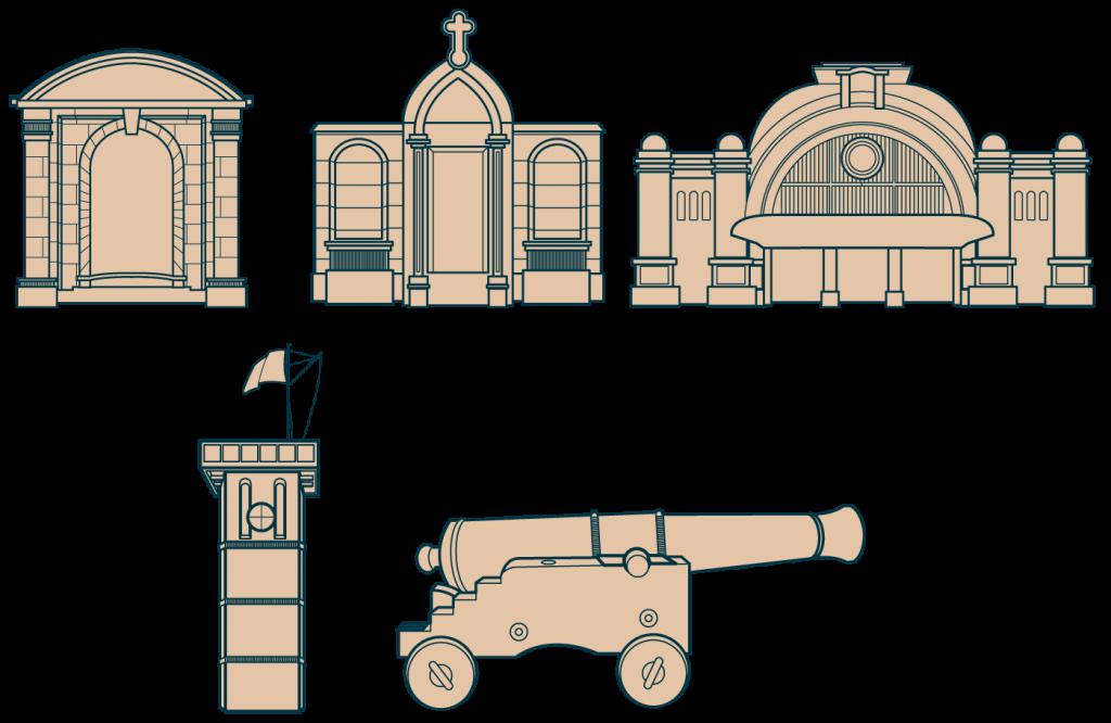 Illustrations détails monuments