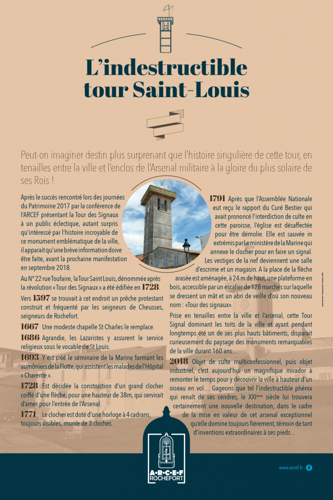 Création maquette panneaux exposition Tour saint Louis
