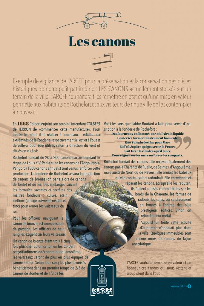 Création maquette panneaux exposition fonderie des canons