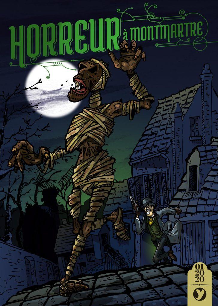 Une momie hantant la nuit la quartier de montmartre