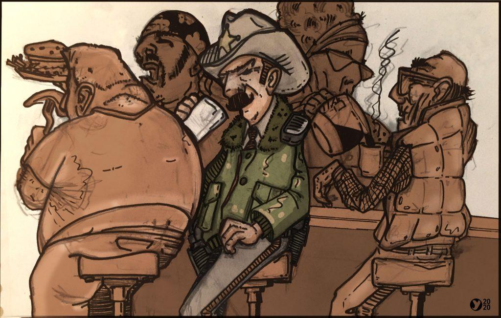 Illustration sheriff américain