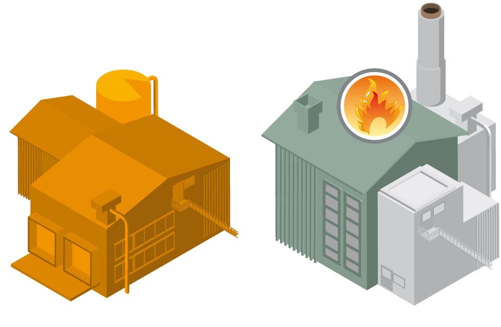 Illustration des usines de traitement